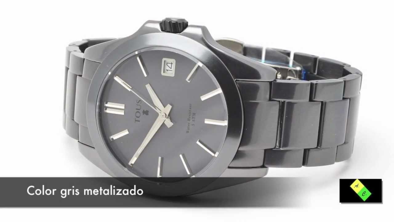 5137bcd220 Reloj TOUS Drive Aluminio Gris - YouTube