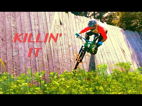 Riding Ski Features on a mtb & jumping my biggest table tops ever! Killington Resort MTB | NES Ep. 3