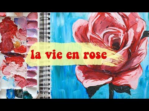 la vie en rose cover || painting a rose