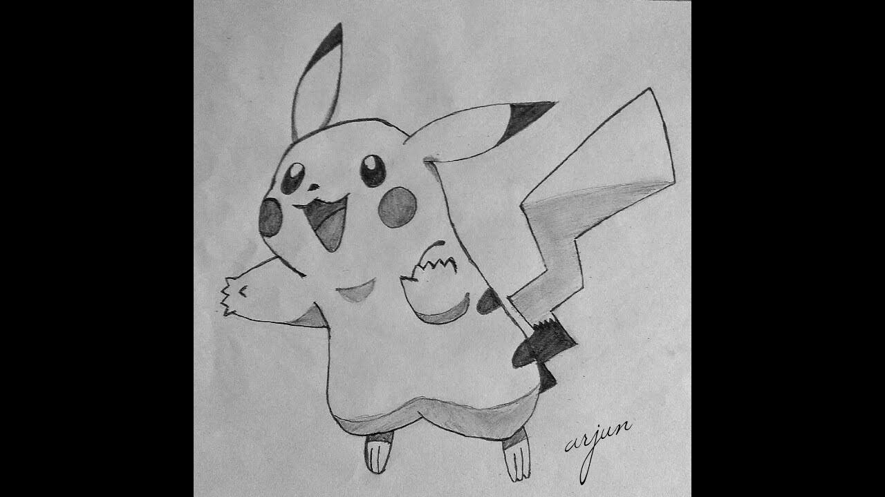 How to draw pikachu step by step pokemon go easy pencil drawing