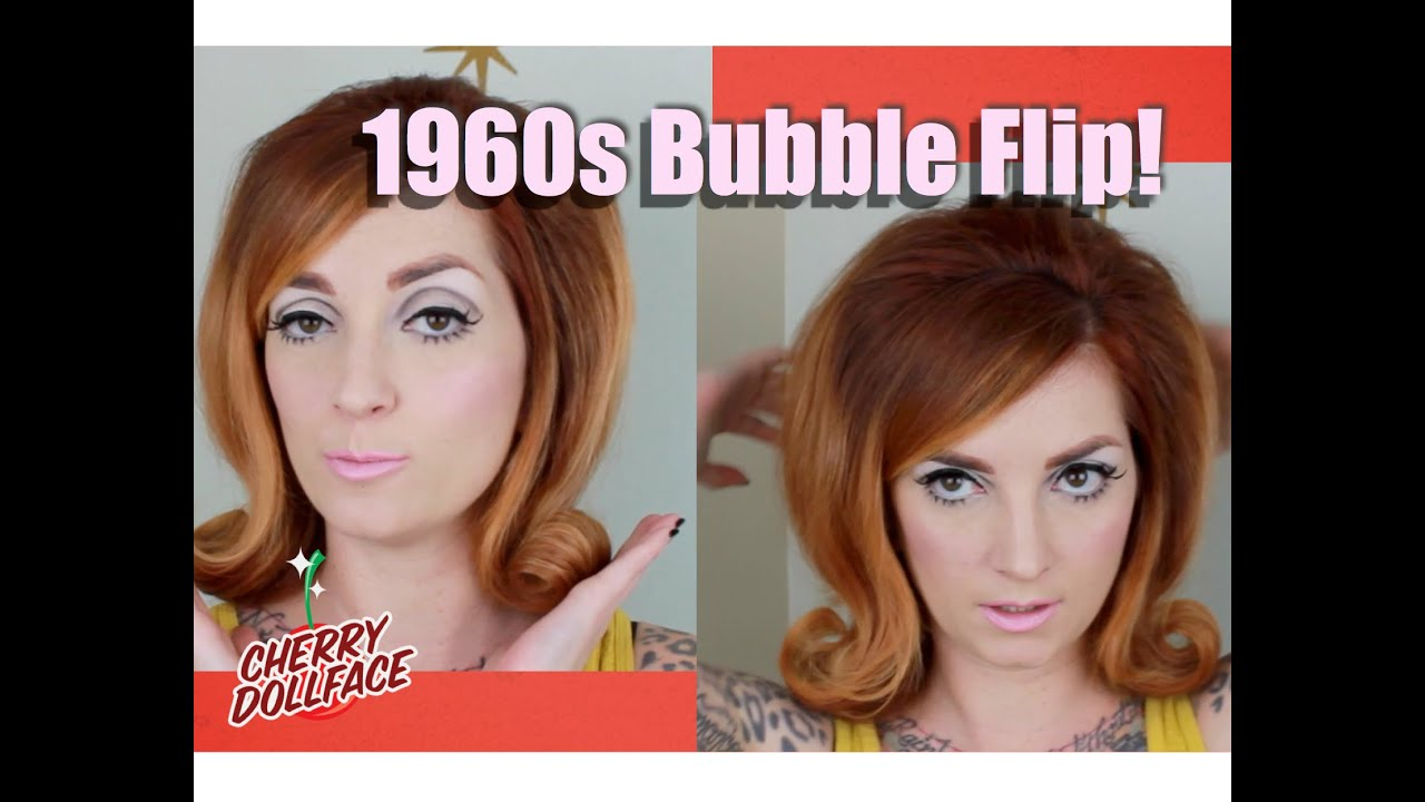 Vintage Hair by Era 1960s Bubble Flip CHERRY DOLLFACE