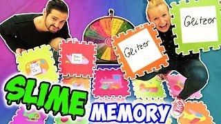 XXL SLIME MEMORY Wer kann die besten Slime Pärchen aufdecken? Neue Schleim Challenge Kathi vs Kaan
