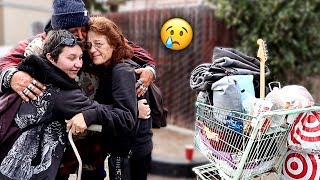 Reuniting Homeless Man with his Family after 5 YEARS!! (emotional)