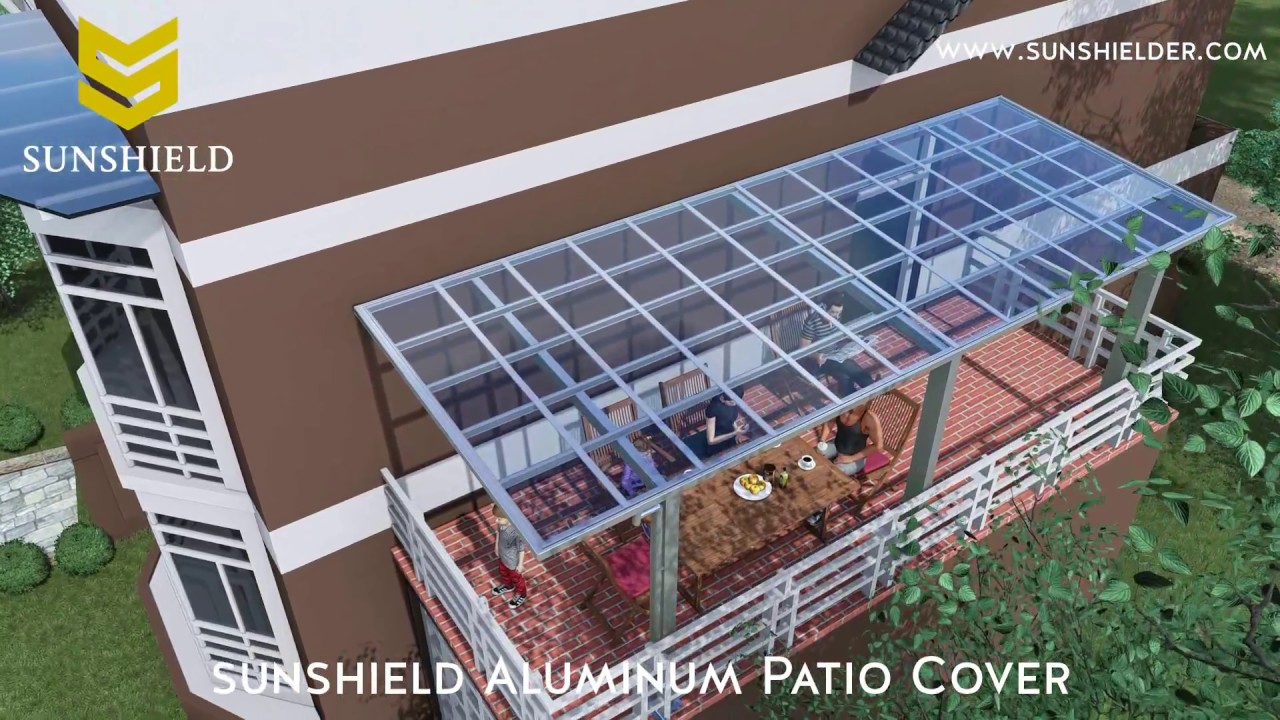 Sunshield Stylish Aluminum Patio Cover With Polycarbonate Roof