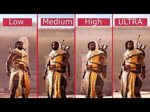 Assassin's Creed Origins: PC Graphics Comparison - Low vs. Medium vs. High vs. Ultra - 1080p [60fps]