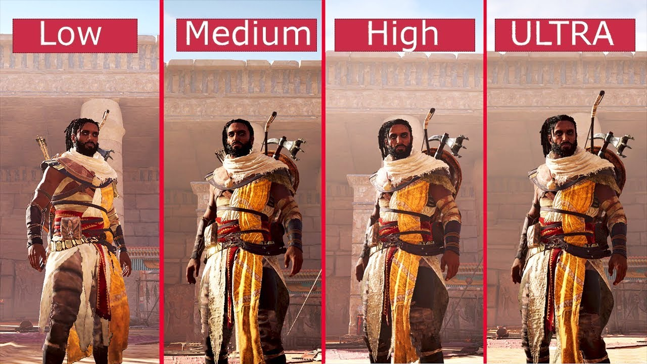 Assassin's Creed Origins: PC Graphics Comparison - Low vs ...
