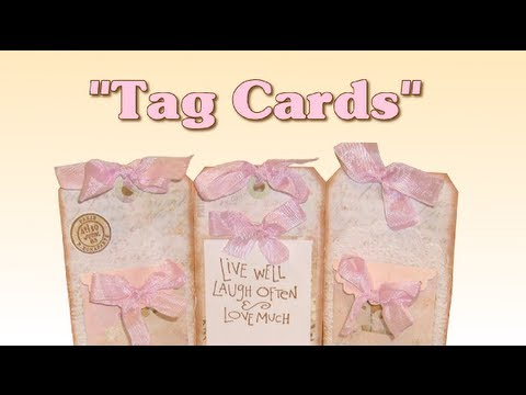 Scrapbook Tag Ideas Make Tag Cards Youtube