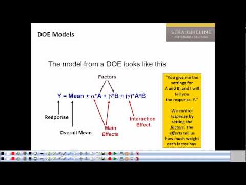 Lecture #11: Intro to DOE
