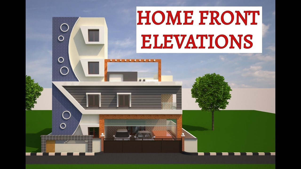 How To Design Home Front Elevation : Home front elevations youtube