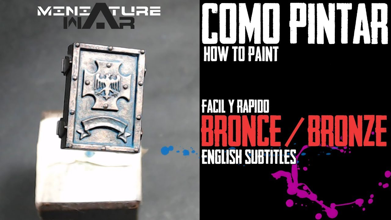 Como Pintar Bronce Envejecido How To Paint Bronze Eng Sub Youtube