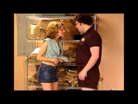 Zack e Miri provano la scena del film...
