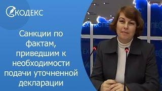 Санкции по фактам, приведшим к необходимости подачи уточненной декларации(, 2014-01-27T11:41:04.000Z)