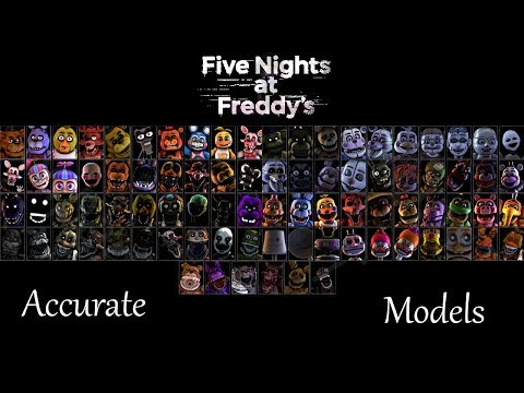 Most Accurate FNaF SFM Models (July 2018/ Updated)