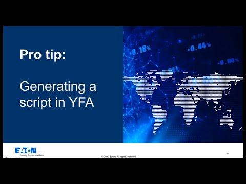 YFA Pro tip: Generating a simulation script