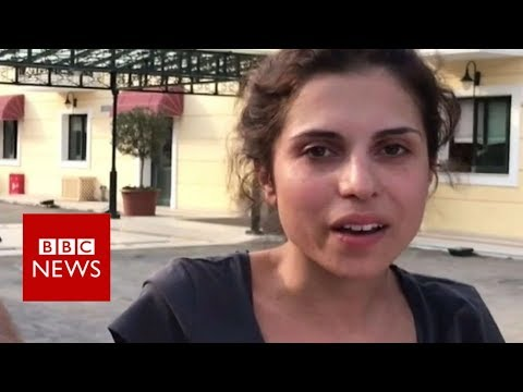 Greece wildfires: 'I jumped from the flames' - BBC News