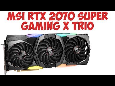 Видеокарта MSI GeForce RTX 2070 SUPER GAMING X TRIO. Обзор сравнение!
