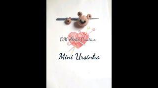 Mini Urso de Amigurumi (Chaveiro) / Видео