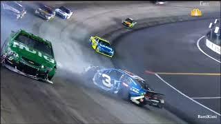 Monster Energy NASCAR Cup Series Bristol2 2017 Austin Dillon & Jeffrey Earnhardt Crash