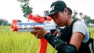 Superhero Action S.w.a.t Police Girl Nerf Guns Warrior Super Girl Rescue Hostage