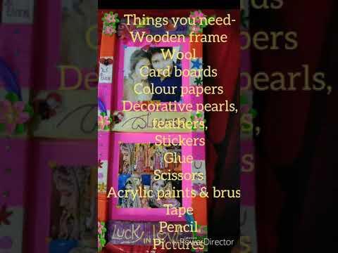 DIY- Handmade photo frame ll easy ART by JOVIAL ll wooden frame ll