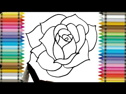 How To Draw Beautiful Rose Flower In Only 3 Minutes Step By Step Drawing Tutorial Youtube