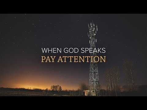 When God Speaks, Pay Attention - Peter Tan-chi