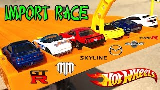 Hot Wheels Import Race: R33 vs R30 vs RX-7 vs MX-5 vs 240Z vs Type R