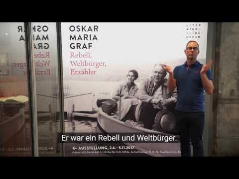 Gebärdensprach-Führung durch die Oskar Maria Graf-Ausstellung im Literaturhaus