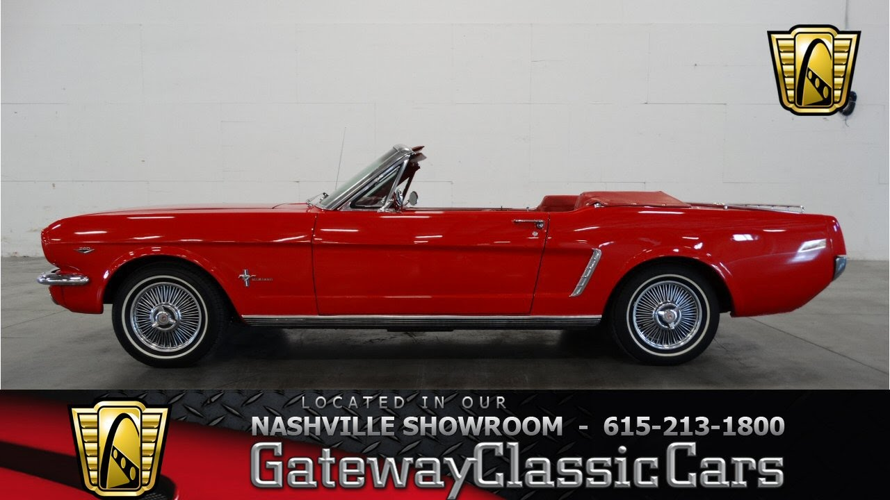 1964 1 2 Ford Mustang Convertible Gateway Classic Cars Of Nashville