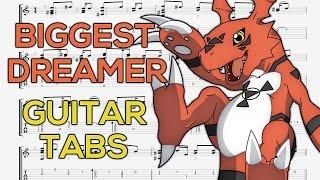 Digimon Tamers - The Biggest Dreamer (Opening) Guitar Tutorial   Guitar Lesson + TABS