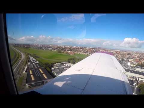 Landing at Ostend-Bruges Airport