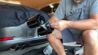 Porsche 911 991 Fabspeed Black Chrome Exhaust Tip Installation