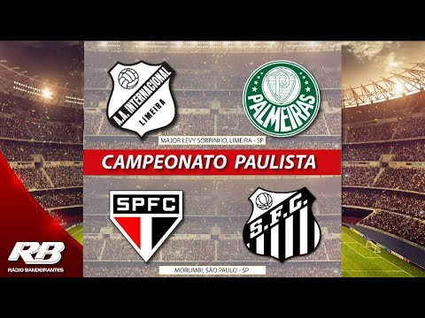🔴 Campeonato Paulista - Inter de Limeira X Palmeiras - 14/03/2020 - São Paulo X Santos