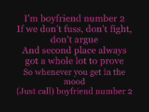 Boyfriend Number 2 lyrics