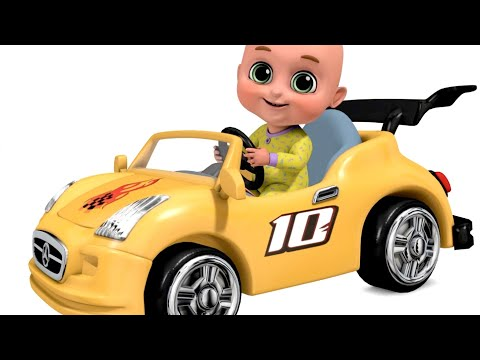 Surprise Eggs | Racing Car Video - New Yellow Car Toys for Kids | Surprise Egg from Jugnu Kids