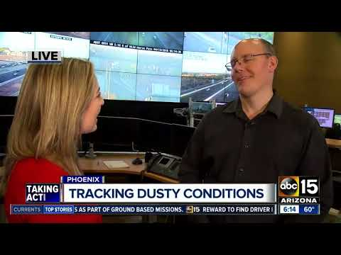Dusty weather creating difficult driving conditions