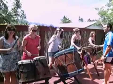 Cook Islands Drumming Lesson with Adventure Cook Islands