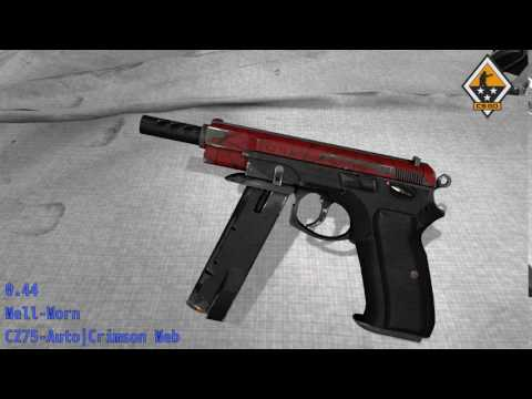 CZ75-Auto Crimson Web - Skin Wear Preview