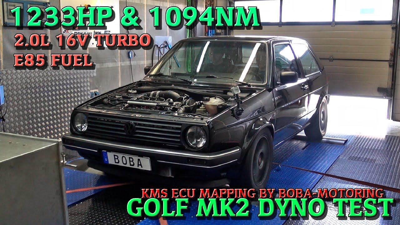 boba golf mk2 2 0l 16v turbo 1233hp on dyno video youtube. Black Bedroom Furniture Sets. Home Design Ideas