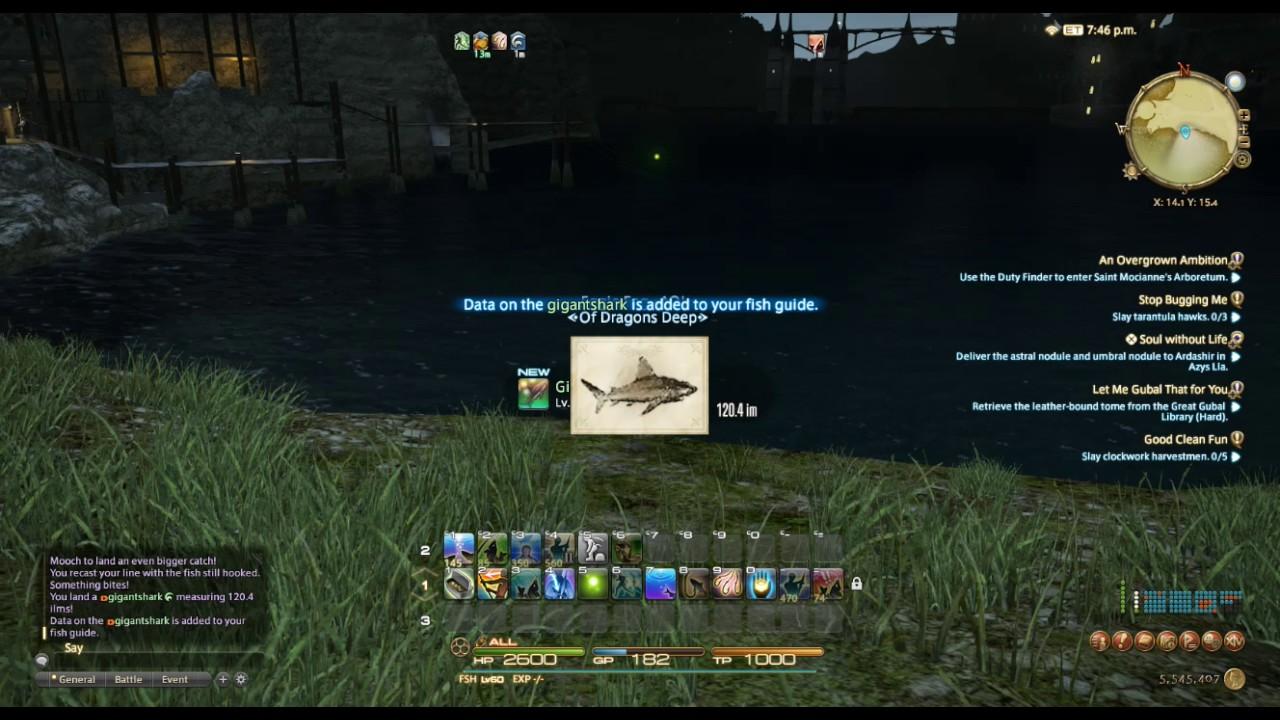 Gigant shark ffxiv fish youtube for Ffxiv fishing locations