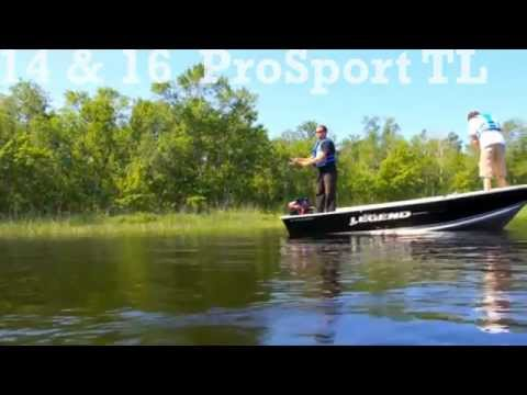 Top Aluminum Fishing Boats by Legend Boats 14 & 16 ProSport Tiller