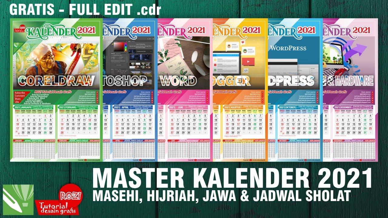 Desain Template Kalender 2021 Cdr - Celoteh Bijak