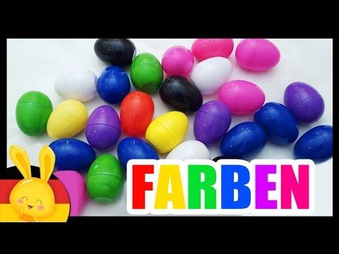farben lernen für kleinkinder deutsch - Das Farbenlied - Kinder Überraschung - Titounis