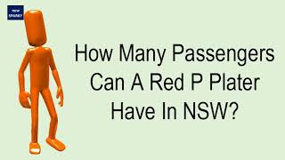 How Many Passengers Can A Red P Plater Have In NSW?