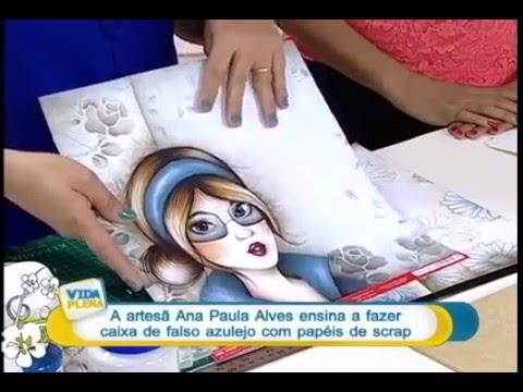 DIY: Faça você mesmo - Falso Azulejo em Scrapdecor - Ana P Alves