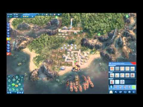 Anno 2070 Battle Against Keto on Hard, Getting steamrolled |
