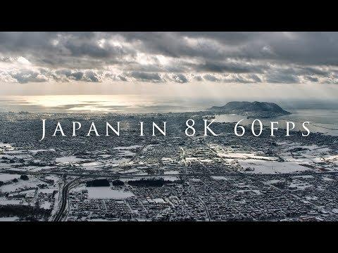 Spettacolari riprese aeree del Giappone in 8K e 60 fps