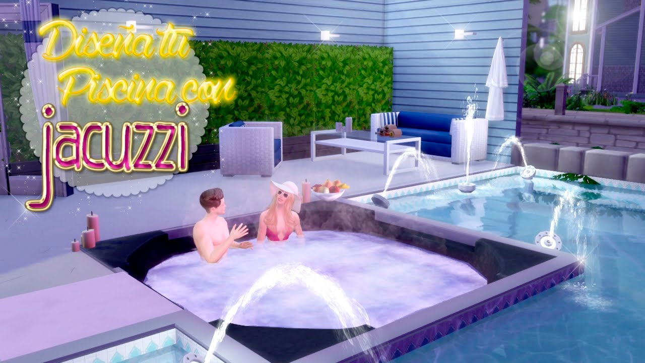disea tu piscina con jacuzzi los sims tutorial speed build youtube