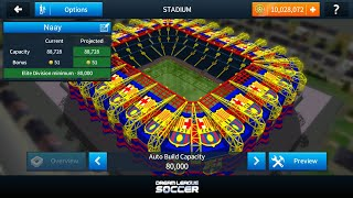 how to bulid Barcelona stadium and other team in dream league soccer