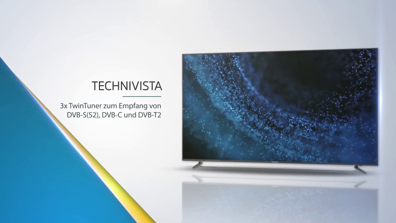 Video: TECHNIVISTA | UHD/4K Smart-TV mit dreifachem TwinTuner. | TechniSat
